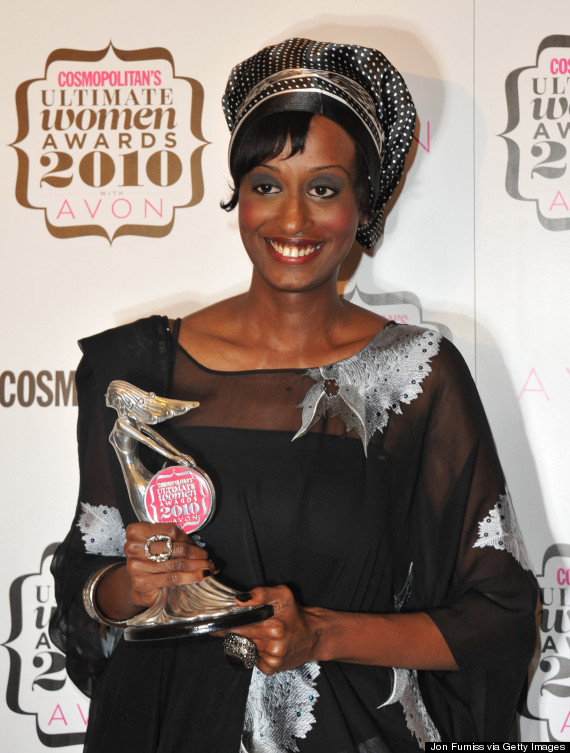 Ultimate Campaigner Leyla Hussein poses in the press room at Cosmopolitan's Ultimate Women Of The Year at Banqueting House on November 2, 2010 in London, England. (Photo by Jon Furniss/WireImage)