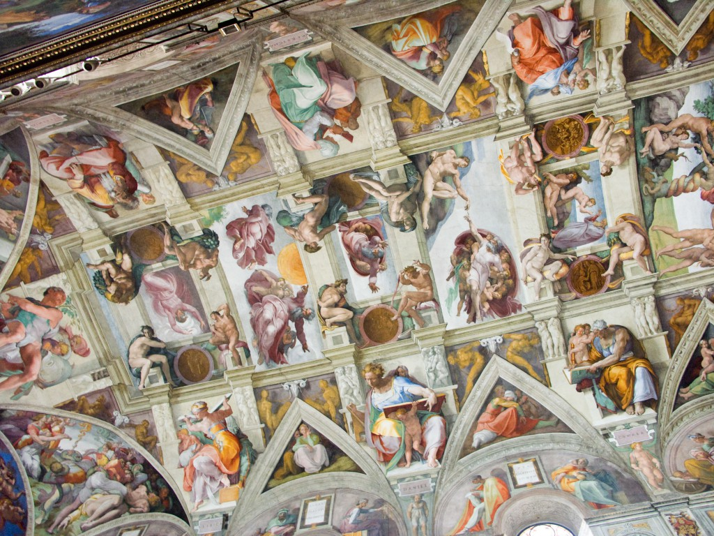 Sistine Chapel ceiling - image by: Jean-Christophe BENOIST