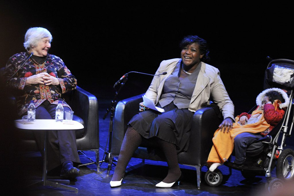 Dr Maggie Aderin Pocock in conversation with Baroness Shirley Williams - Image via Southbank Centre/Flickr