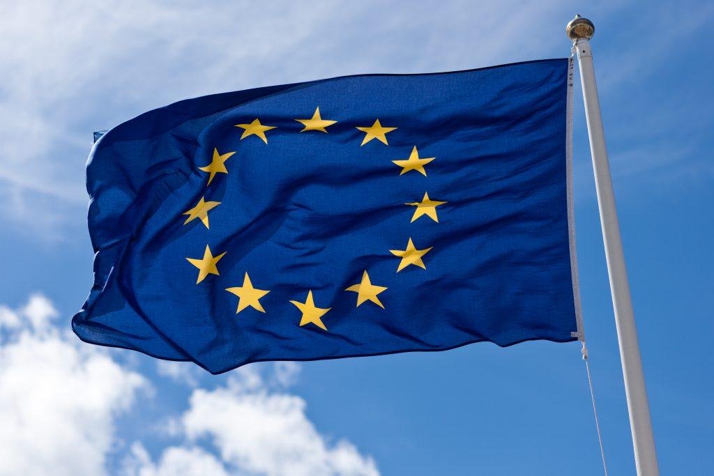 European Union Flag against a blue sky | Peoples Vote Ethnic Minority Women Article Lauren Pemberton-Nelson