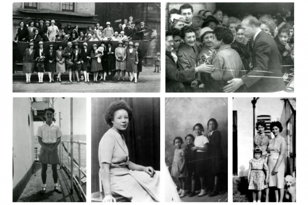 a collection of photos depicting PoC communities in Tiger Bay in Cardiff in the early 20th Century