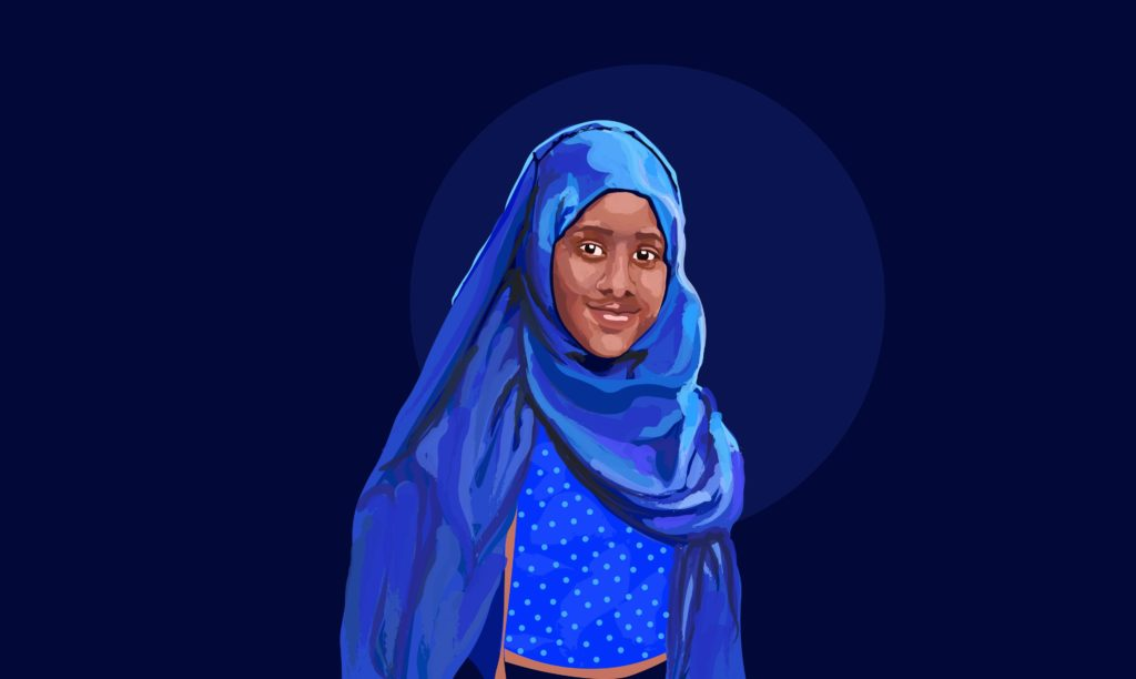 Illustrated image of Shukri Abdi
