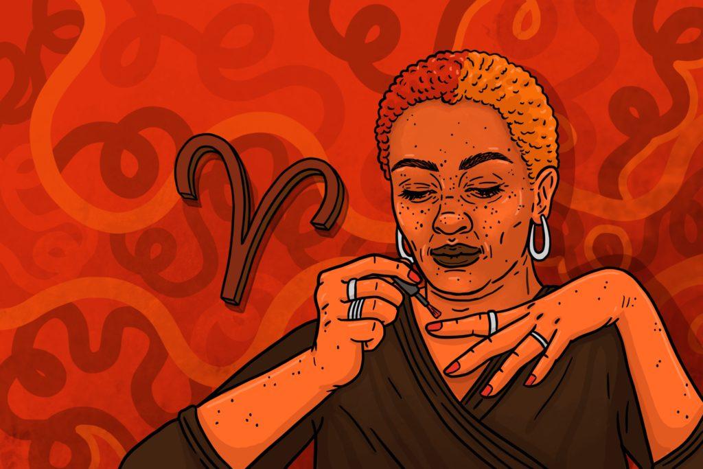 Aries Season illustration by Nadia Akingbule