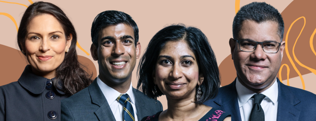 Image from left to right shows Priti Patel, Rishi Sunak, Suella Braverman and Alok Sharma, all members of Boris Johnson's 2020 cabinet