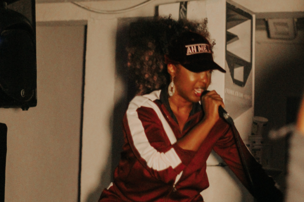 Five on it Stush performing gal-dem launch