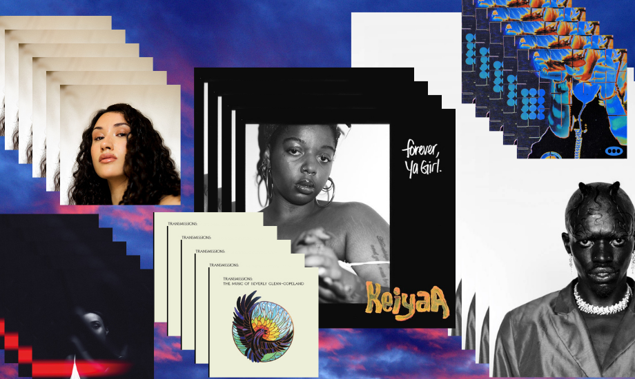 Composite image for Five on it with multiple images of album artwork from Cleo Sol, Beverly Glenn-Copeland, KeiyaA, Desire Marea, Liv.e and Ego Ella May
